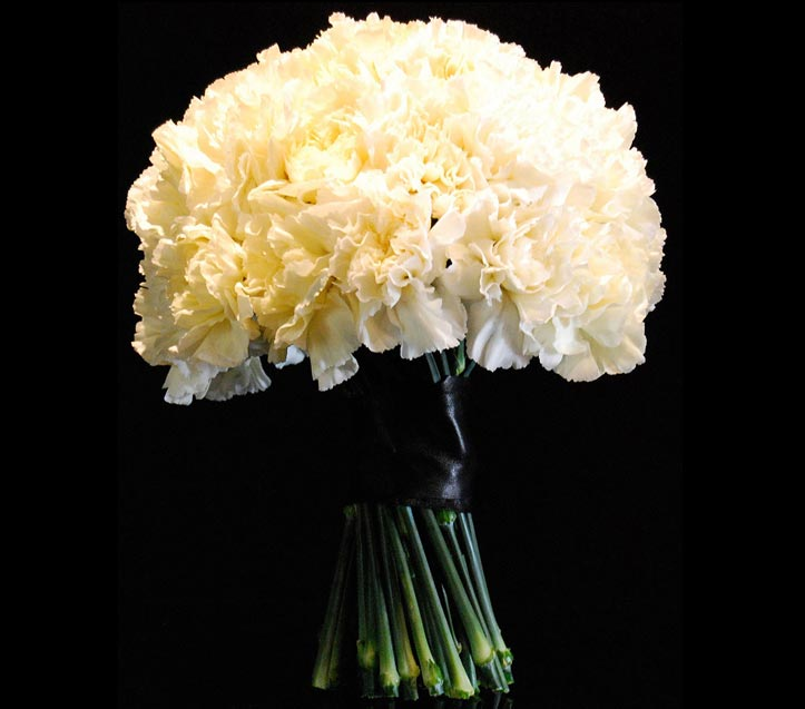 a signature standing carnation bouquet for your valentine